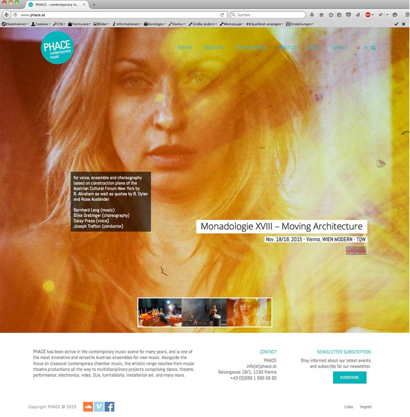 Phace-Webseite-Home
